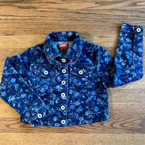 3/$20 Blue Flowered Cropped Jean Jacket